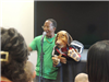 Tyrone with dog puppet