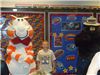 Fat Cat and Smokey the Bear with boy