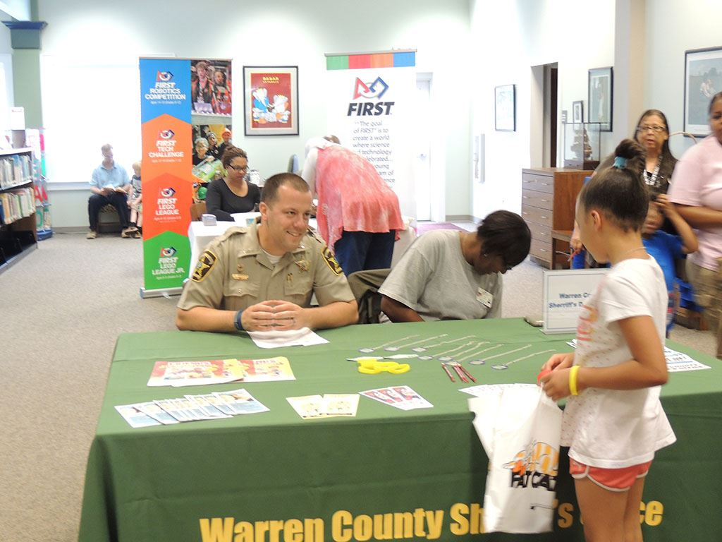 Sheriff department providing educational information to students and parents