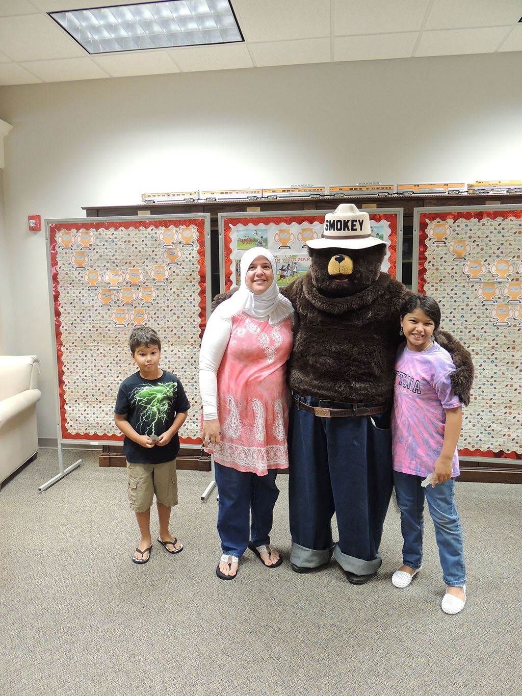 Smokey the Bear with family