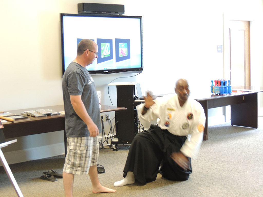 Master Bobby Scott demonstration with audience member