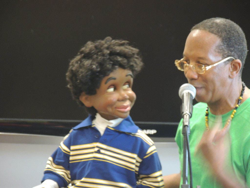 Tyrone with ventriloquist doll