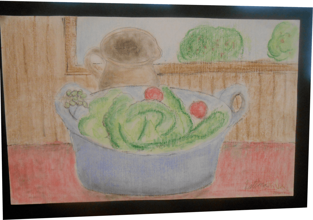 Artwork of food in bowl