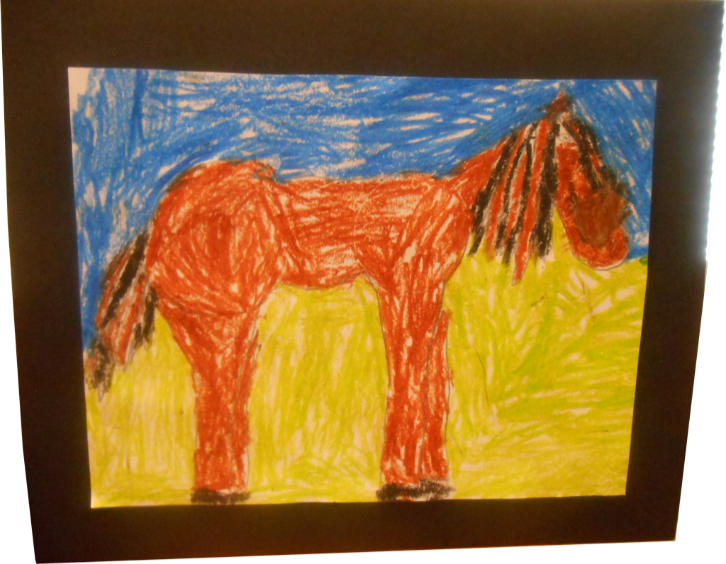 Artwork of horse
