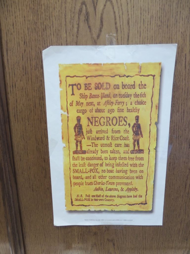 Image of old slave sign