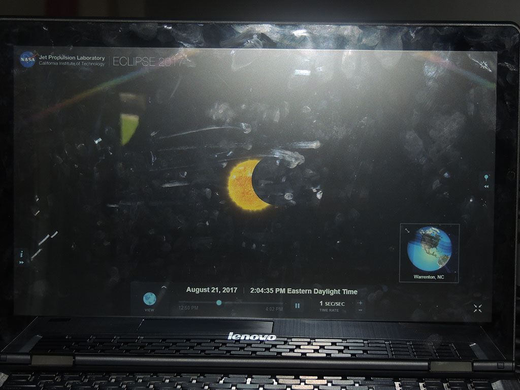 Eclipse on computer screen