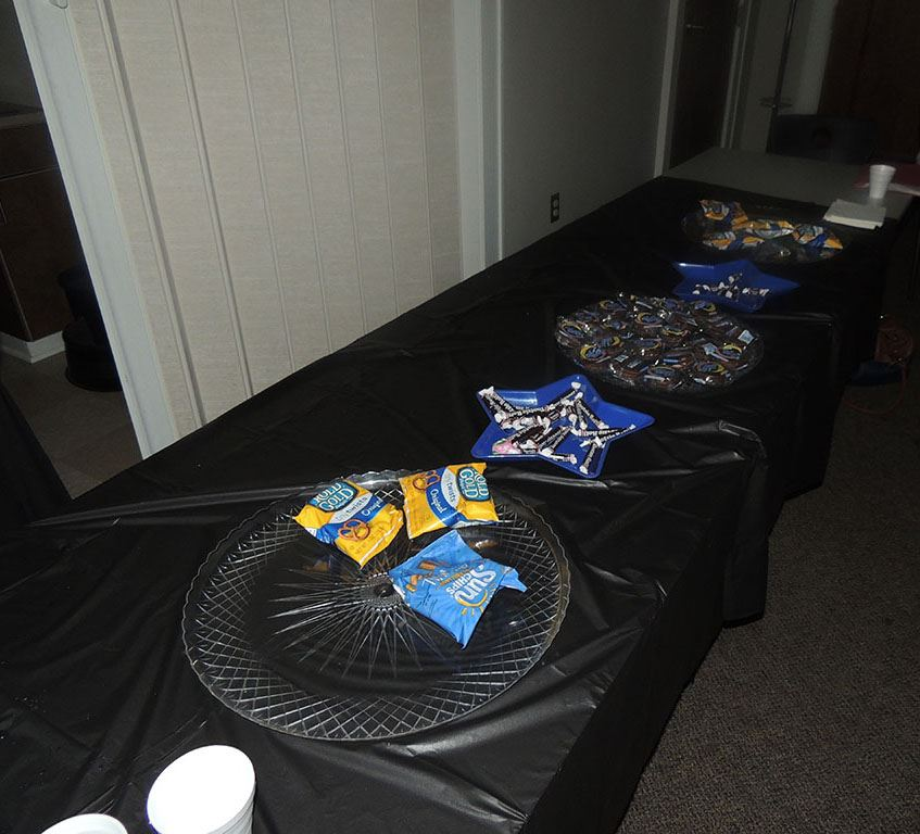 Snacks at the event