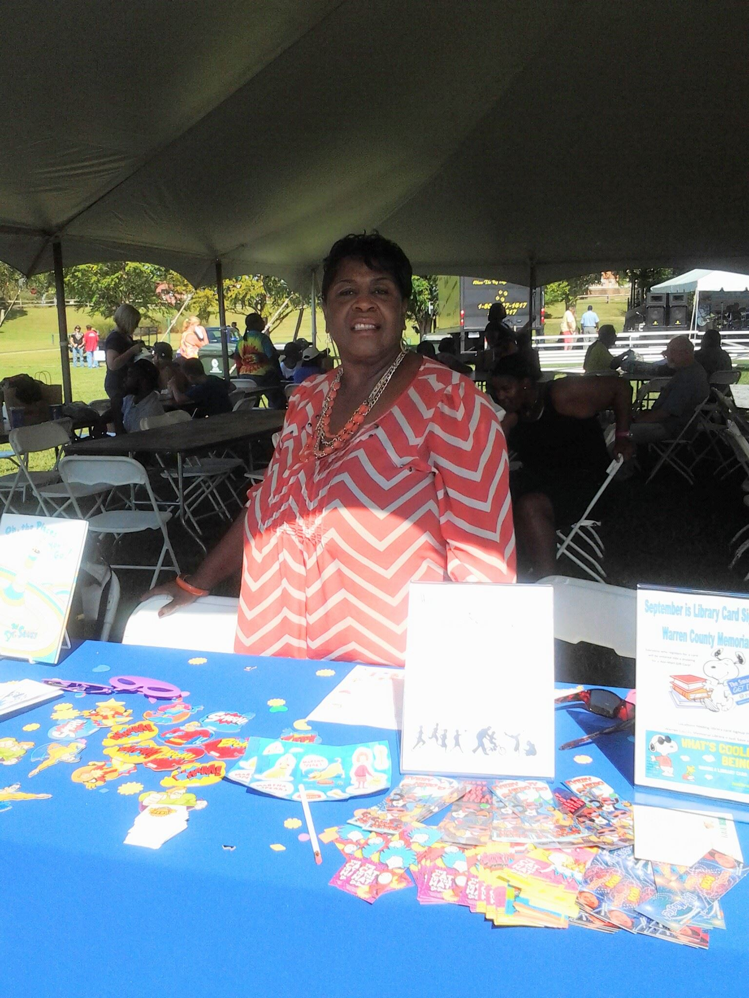 Mary Bullock at the Youth Outreach Services table