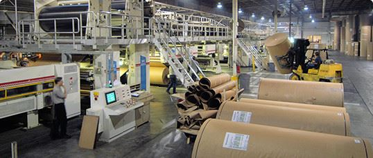 Interior of paper manufacturing plant