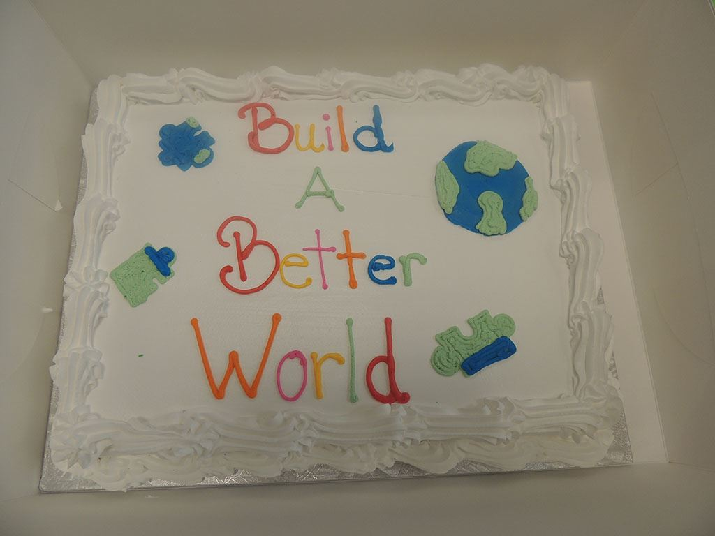 Build a Better World cake
