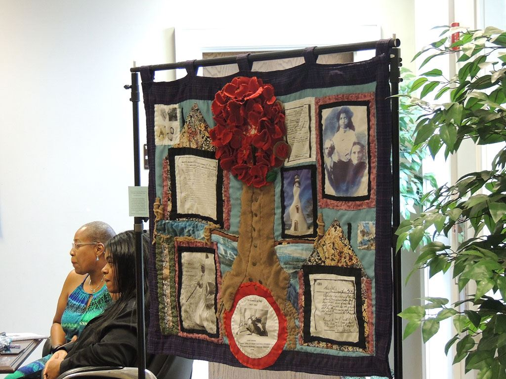 Quilt showing old photographs