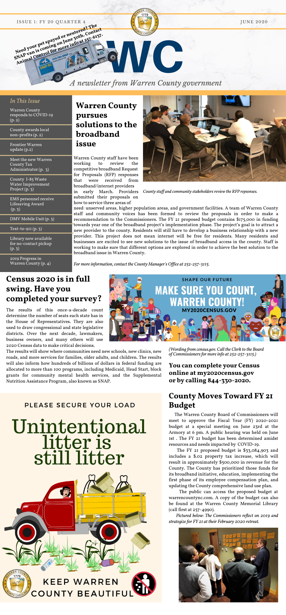 June 2020 WC Newsletter Page 1