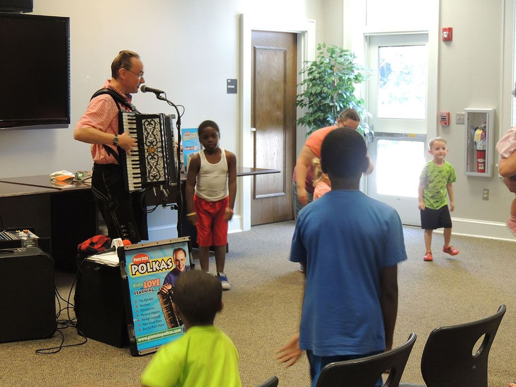 Children dancing as Polka Man plays 2