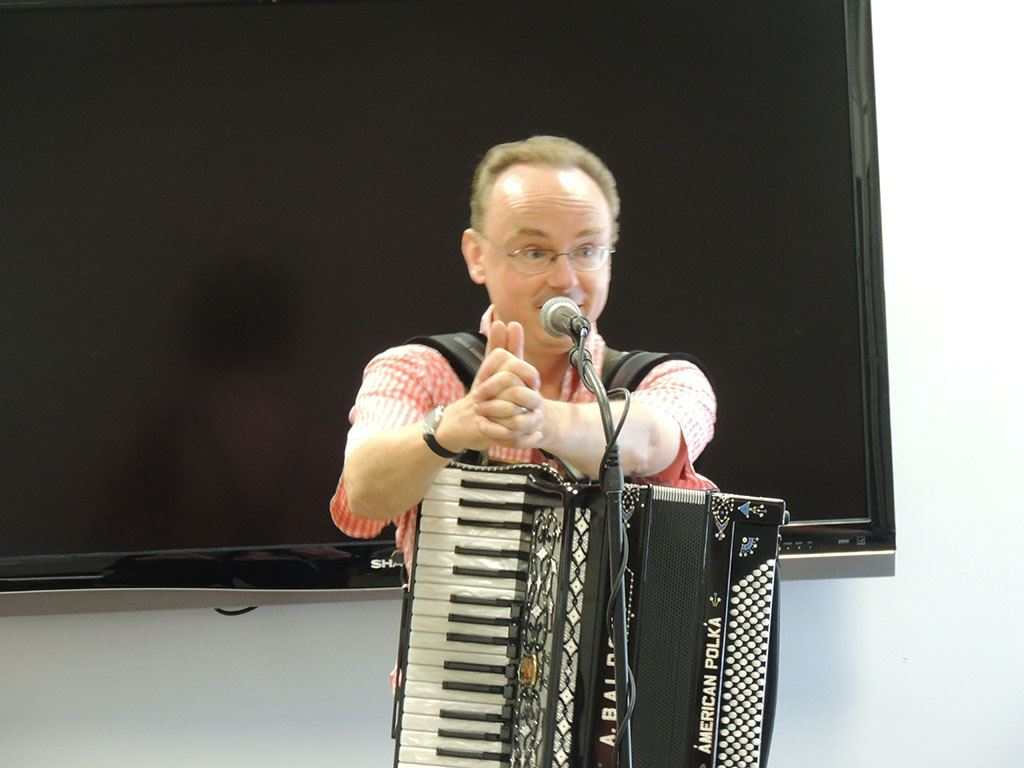 Polka man holding accordion 2