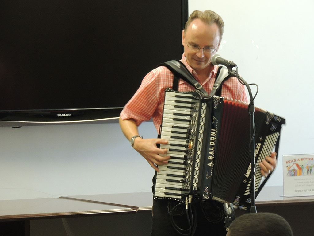 Polka man with accordion