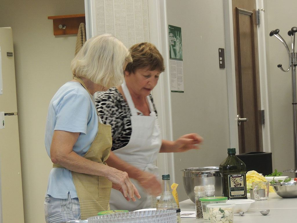 June 29, 2017 women cooking