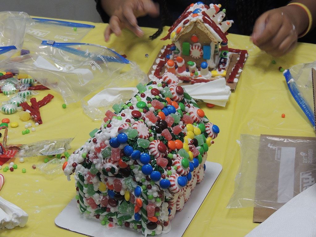 Gingerbread House covered in candy