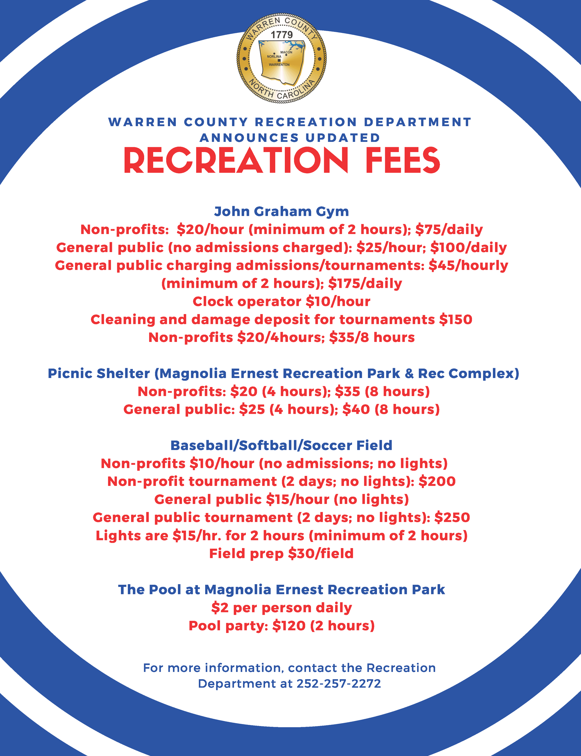2020 Recreation Fees Update