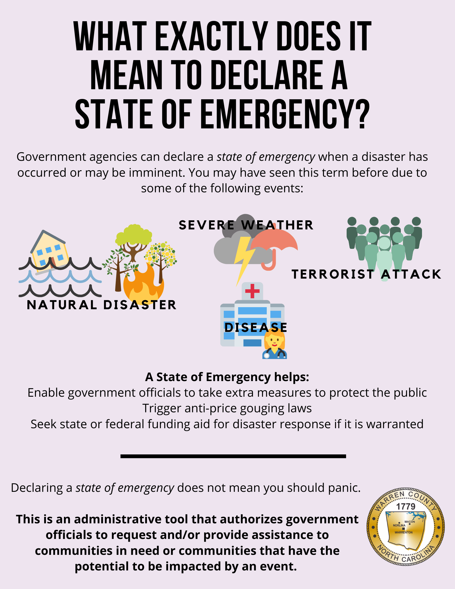 State of Emergency Defined- Flyer